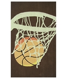 RugStudio presents The Rug Market America Kids Hoops 11788 Brown/cream/orange Hand-Hooked Area Rug